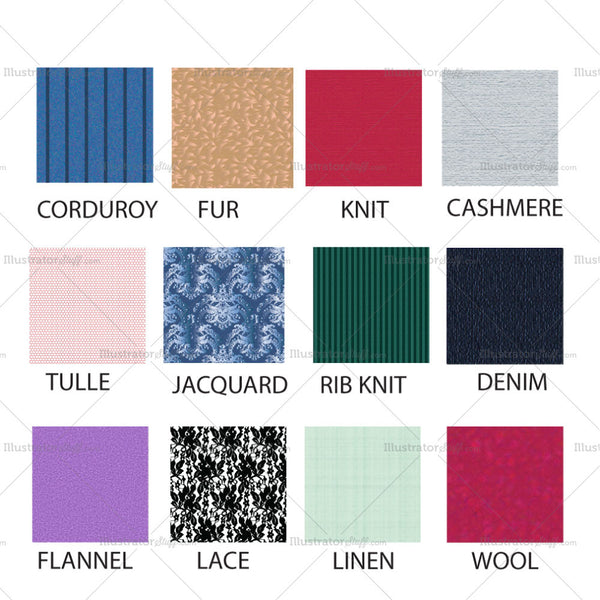 Fashion Fabric Texture Set