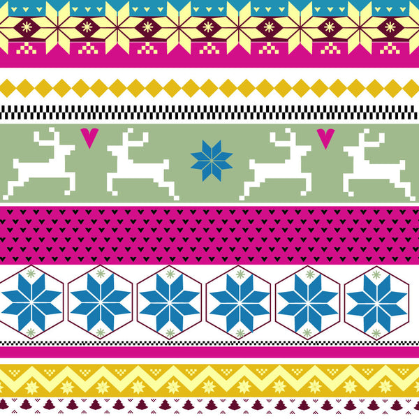 {Illustrator Stuff} Winter Holiday Fairisle Repeating Pattern