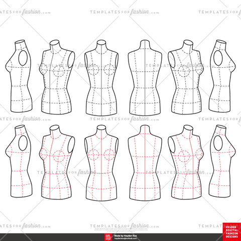 Fashion Mannequin Template