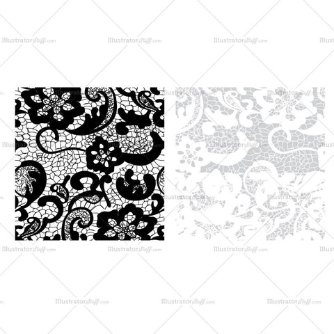 Floral-lace-pattern Swatch