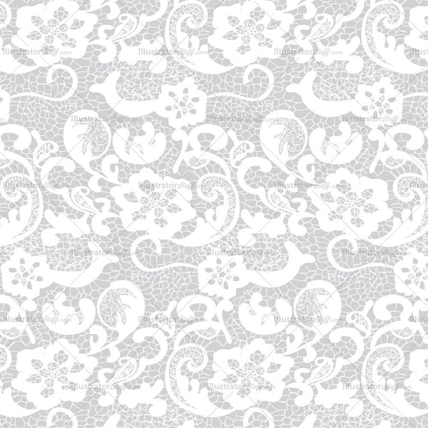 Floral Lace Pattern Swatch Illustrator Stuff
