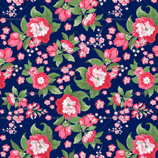 Floral Repeating Textile Pattern