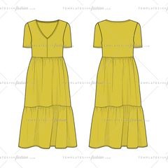 Women's Simple Flowy Tiered Dress