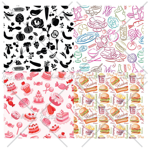 Food Themed Repeating Patterns