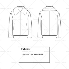 Fur Jacket Flat Template