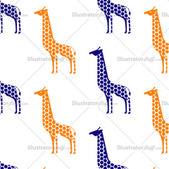 Giraffe Seamless Repeating Pattern