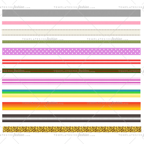 Grosgrain Ribbon pattern brushes