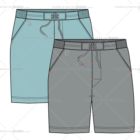 HIKING SHORT FASHION FLAT VECTOR FILE