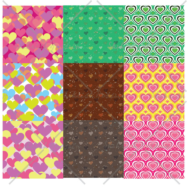 Heart Themed Repeating Patterns