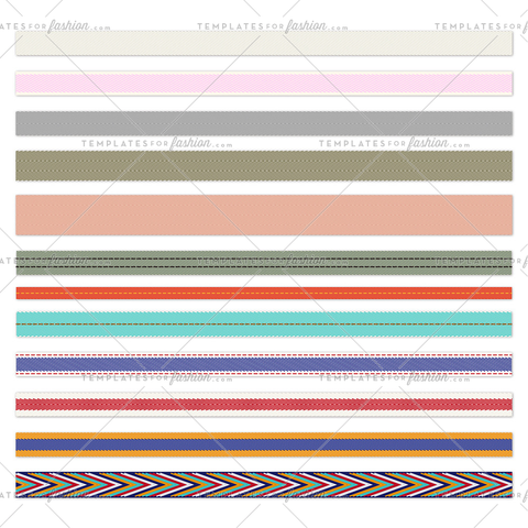 Herringbone tape pattern brushes