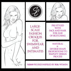 "Premium ""swimwear/intimates"" Croquis For Fashion Design ""jaimie"""