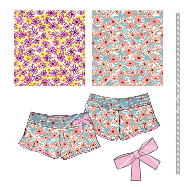 {Illustrator Stuff} Shahrish Hossain Floral Printed Shorts
