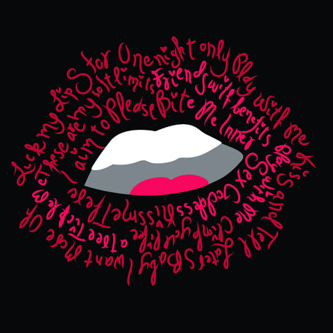 {Illustrator Stuff} Lips Placed Print Artwork