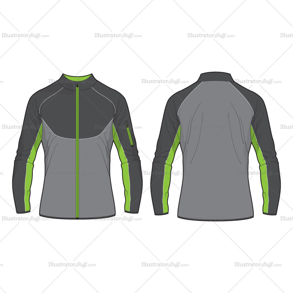 Men Performance Sport Jacket Vector Template Templates For Fashion