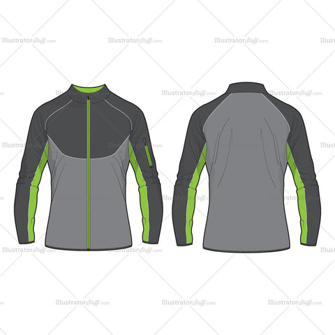 Men Performance Sport Jacket Vector Template