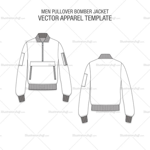 Men Pullover Bomber Jacket
