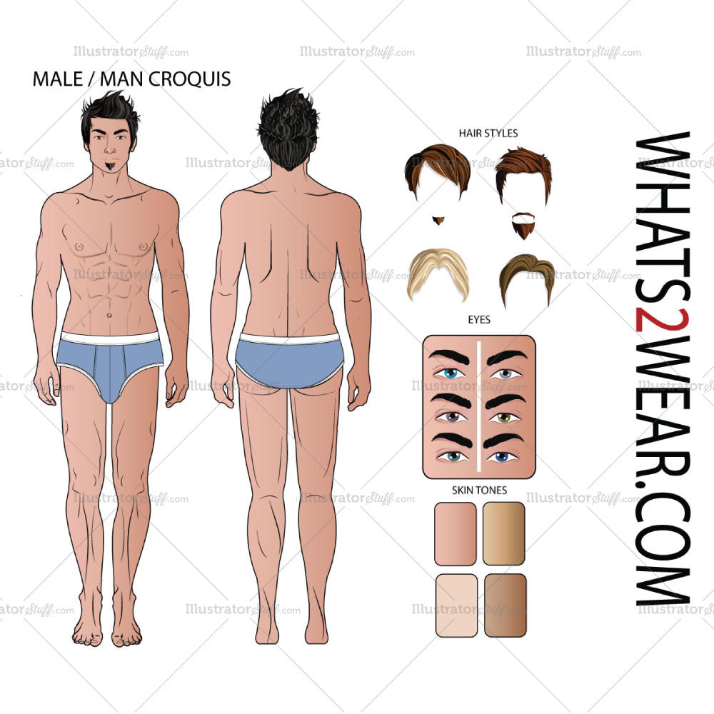 Mens Croquis Template Templates For Fashion