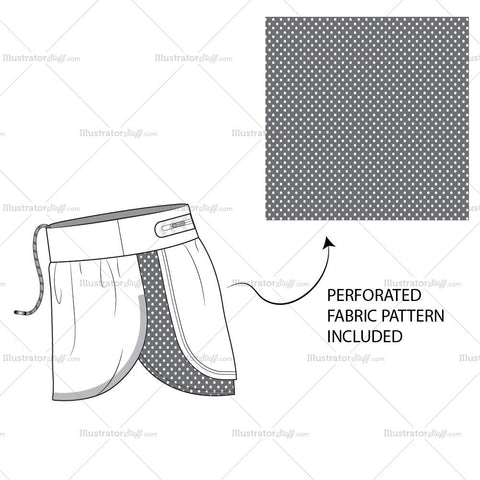 Perforated Mesh Back Running Shorts- Activewear Basics By Schauminchanel