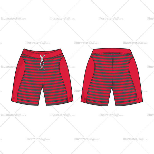 Men Sport Sweat Shorts Vector Template