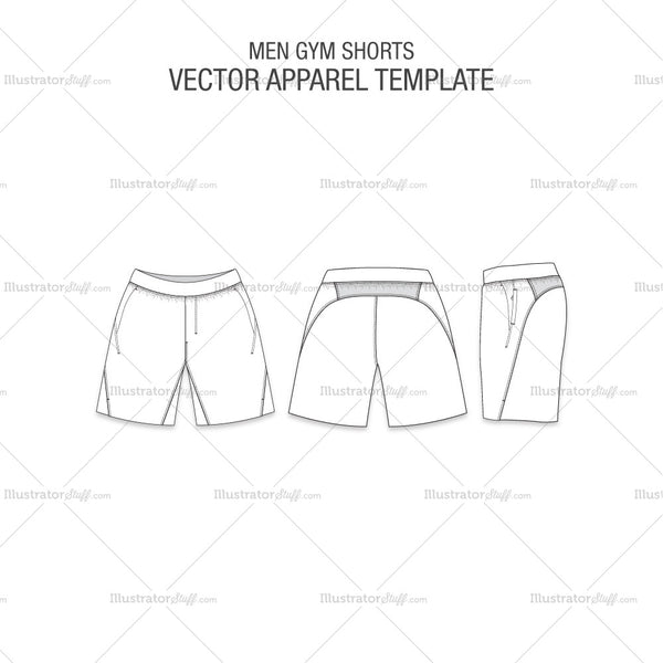 Men Gym Shorts Fashion Flat