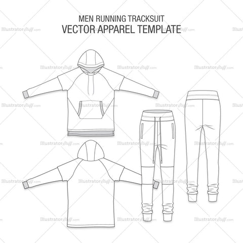 Men Running Tracksuit Fashion Flat