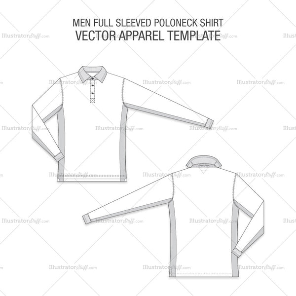 Men Full Sleeved Poloneck Shirt