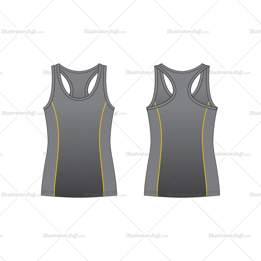 Men S Racerback Sport Tank Top Fashion Flat Template Templates For