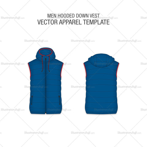 Men Hooded Down Vest