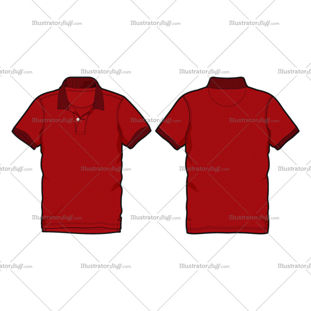 Men 39 S Men Red Polo Shirt Vector Fashion Flat Template