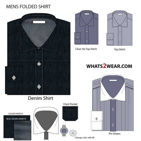 {Illustrator Stuff} Men's Folded Shirt Fashion Flat Illustrator Template