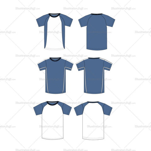{Illustrator Stuff} Men's Crew Neck Shirt Fashion Flat Template