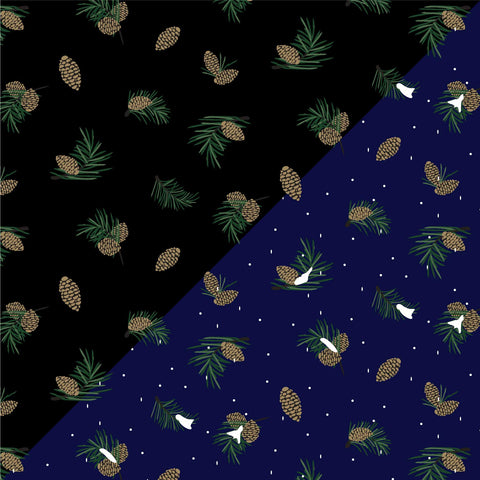 {Illustrator Stuff} Pine Cone & Pine Needle Repeating Textile Print