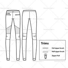 Moto Leggings Flat Template