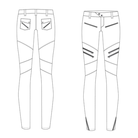 {Illustrator Stuff} Moto Pant Fashion Flat by FIEND