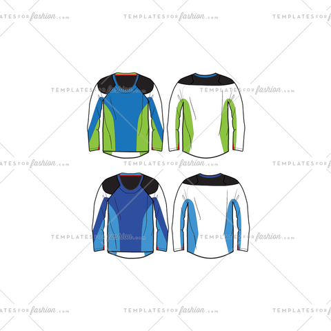 Men's Motocross Jersey Fashion Flat Templates