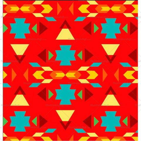 Nahuatl Seamless Repeating Pattern