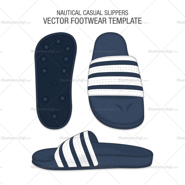Nautical Casual Vector Slippers
