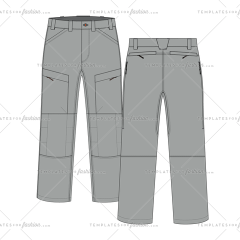 Outdoor hiking pant fashion flat vector file