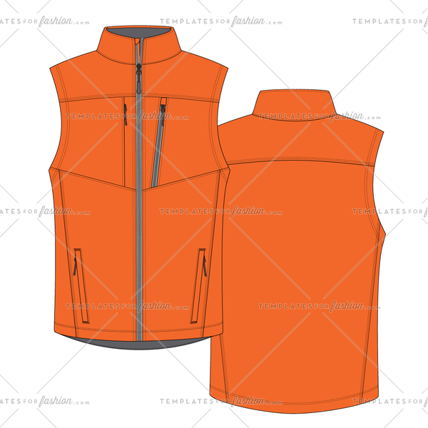 Outdoors vest fashion flat vector file