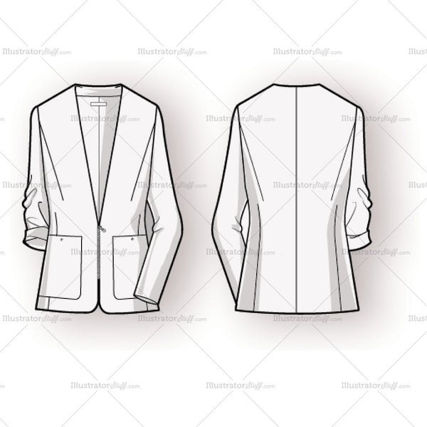 women u0026 39 s blazer fashion flat template  u2013 templates for fashion