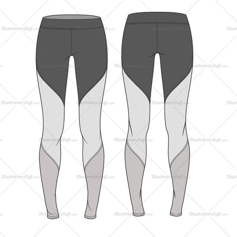 Perforated Compression Leggings- Activewear Basics By Schauminchanel