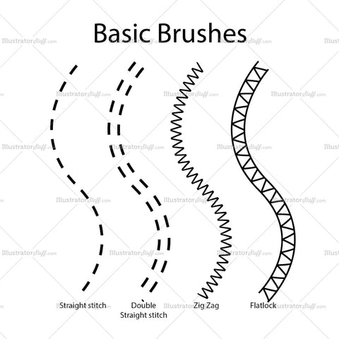 Basic Fashion Flat Brushes