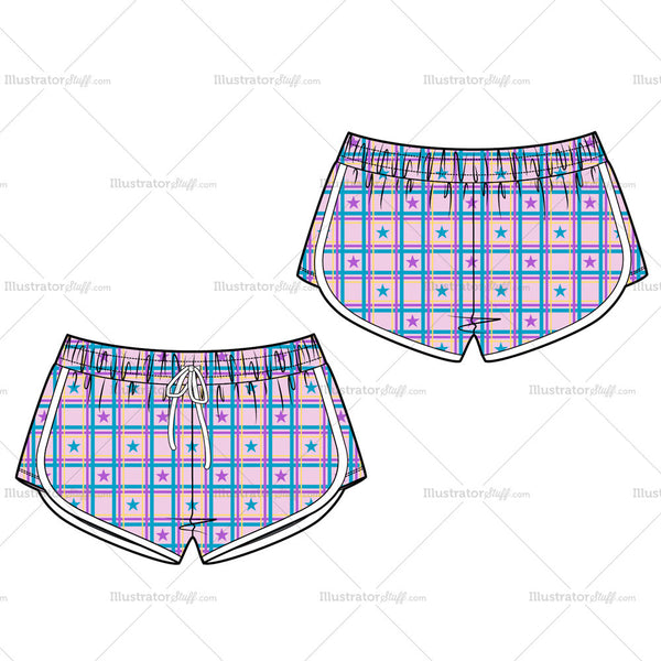 Women's Sport Short Fashion Flat Template