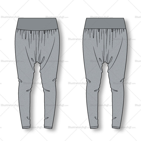 harem pants template - women 39 s fashion harem pants flat template illustrator stuff