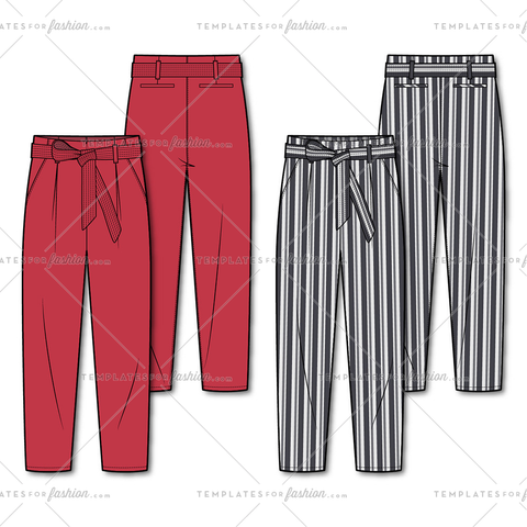 Women's Paper Bag Trousers