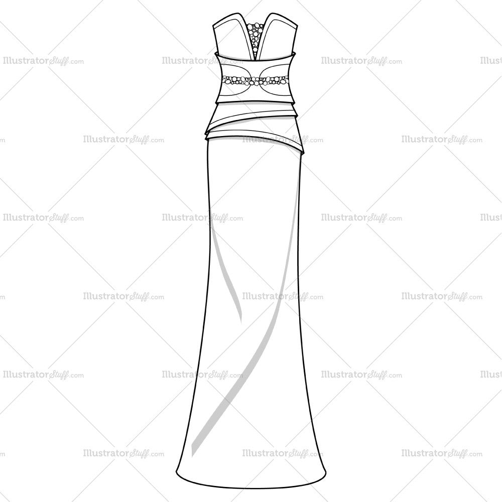 Fashion Flat Templates | Pattern Brushes | Textile Repeating Pattern ...