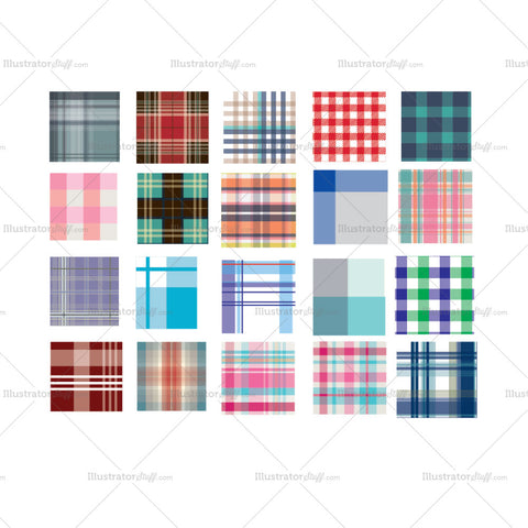 Plaids And Checkered Repeating Pattern