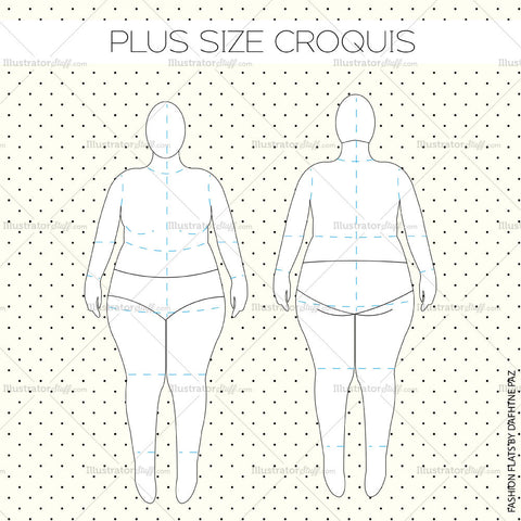 Plus Size Women's Croquis