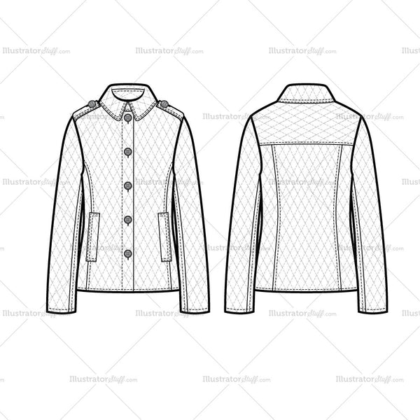 Quilted Jacket Flat Template