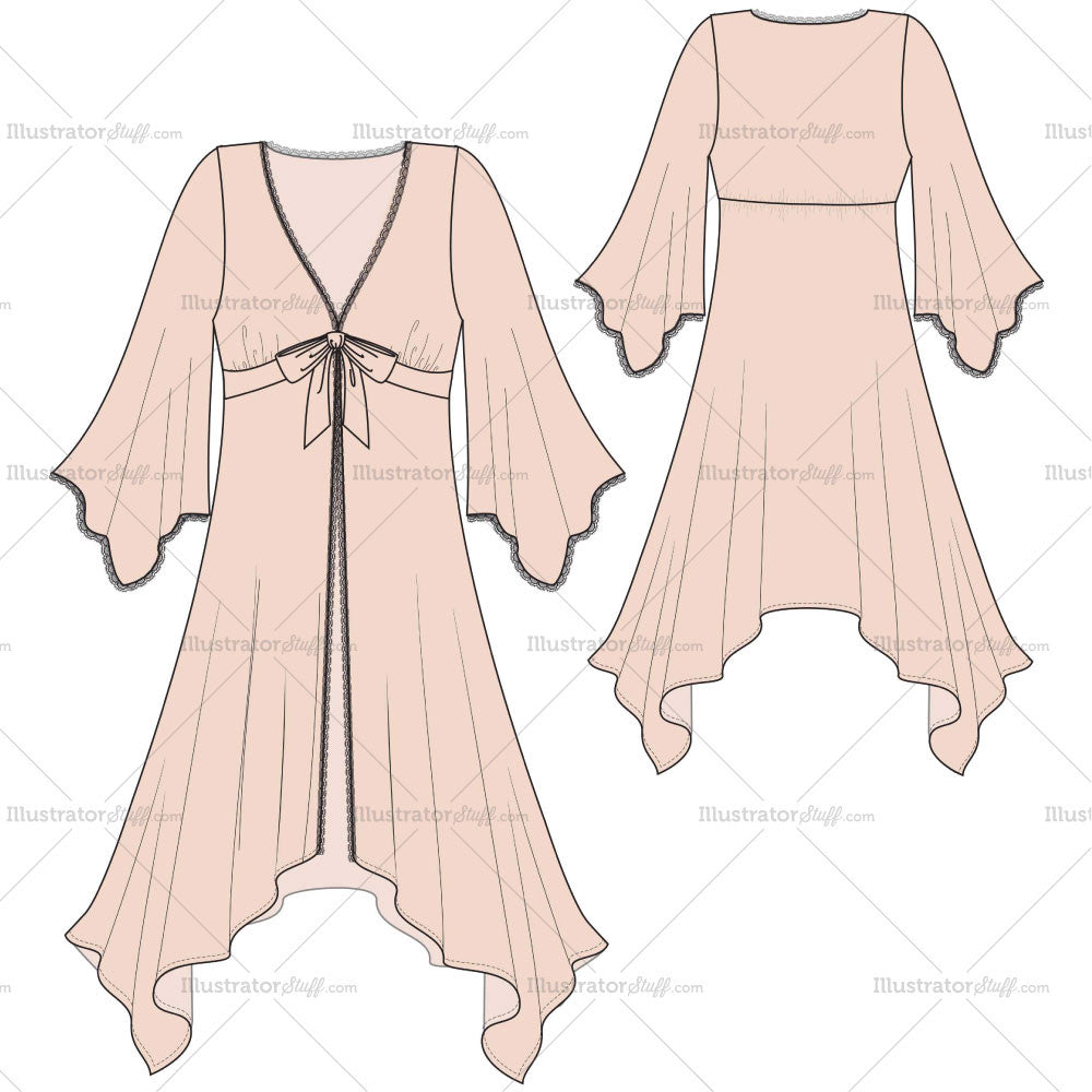 women s ballerina robe fashion flat template templates for fashion